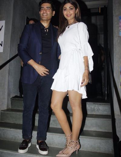 Manish Malhotra, Shilpa Shetty attend Jitesh Birthday bash