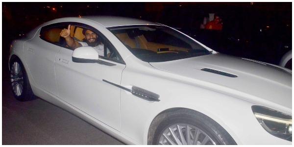 Ranveer Takes Deepika Padukone out on his birthday in his new car