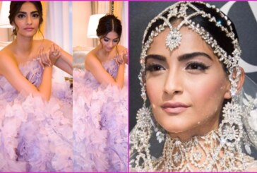 PHOTOS: Actress Sonam Kapoor As Showstopper For Ralph and Russo At Paris Couture Week 2017