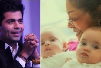 Karan Johar Shares First Picture Of Adorable Twins Roohi And Yash, Receives Heart From Kajol!