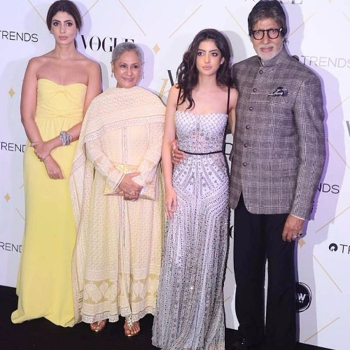 Shweta Nanda Navya Naveli at Vogue Beauty Awards 2017