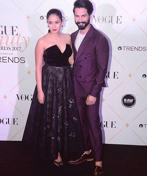 Shahid Kapoor Mira Kapoor at Vogue Beauty Awards 2017