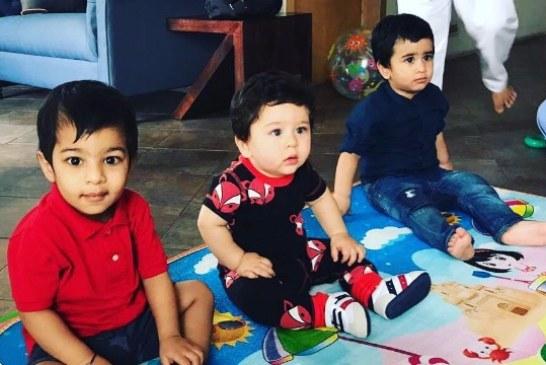 Kareena's Son Taimur, Tusshar's Son Laksshya's Playtime Photo Is Overloaded With Cuteness