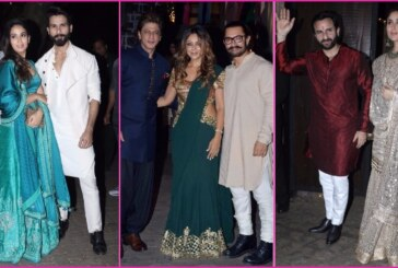 SRK, Gauri Khan, Deepika Padukone, Kareena Kapoor, Shahid At Aamir Khan's Grand Diwali Party