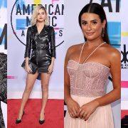 Selena Gomez, Demi Lovato, Lea Michele at American Music Awards 2017