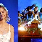 Selena Gomez Lip Syncing At American Music Awards 2017