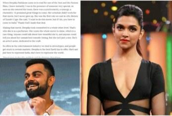 Deepika Padukone, Virat Kohli On TIME's 100 Influential List, Priyanka, Vin Diesel Is All Praises