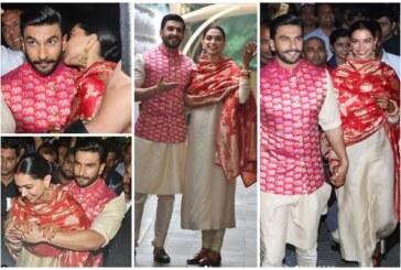 Newlywed Deepika Padukone – Ranveer Singh Are All Smiles and Happy As They Return Mumbai